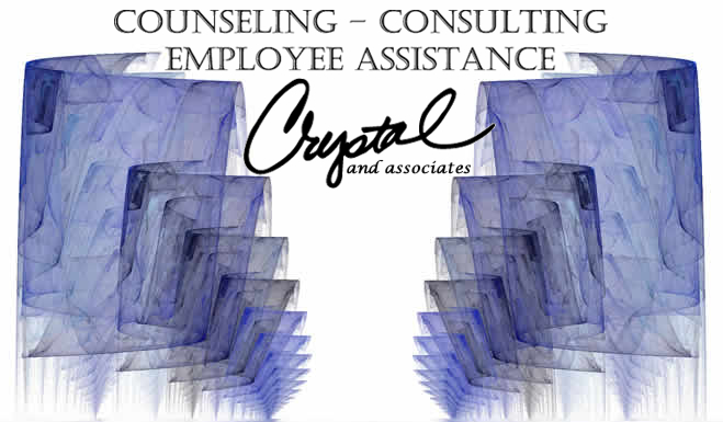 reflecting pool with Crystal & Associates Logo (COUNSELING, CONSULTING, EMPLOYEE ASSISTANCE, Crystal and associates)